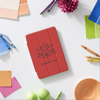 Canada 150 Official Logo - Red and Black iPad Mini Cover