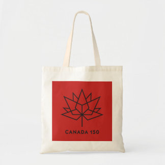 Canada 150 Official Logo - Red and Black Tote Bag