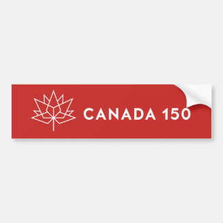 Canada 150 Official Logo - Red and White Bumper Sticker