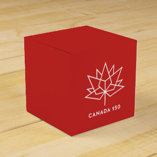 Canada 150 Official Logo - Red and White Favour Box