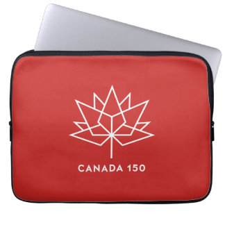 Canada 150 Official Logo - Red and White Laptop Sleeve