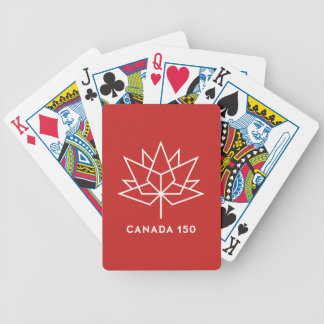 Canada 150 Official Logo - Red and White Poker Deck
