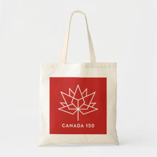 Canada 150 Official Logo - Red and White Tote Bag
