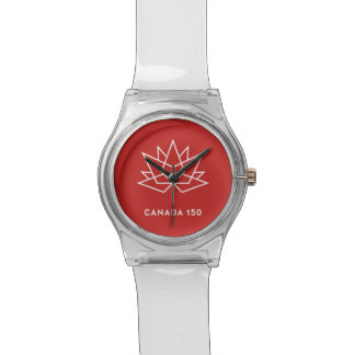 Canada 150 Official Logo - Red and White Watches