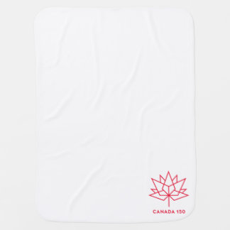 Canada 150 Official Logo - Red Outline Baby Blanket