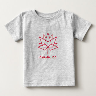 Canada 150 Official Logo - Red Outline Baby T-Shirt