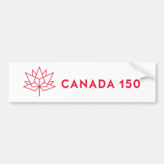 Canada 150 Official Logo - Red Outline Bumper Sticker