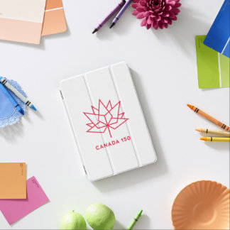 Canada 150 Official Logo - Red Outline iPad Mini Cover