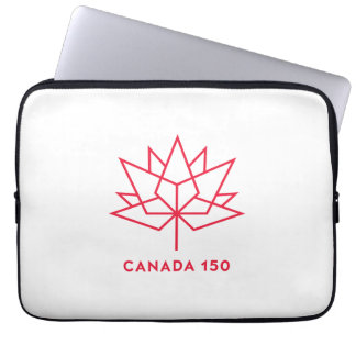 Canada 150 Official Logo - Red Outline Laptop Sleeve