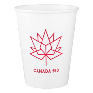 Canada 150 Official Logo - Red Outline Paper Cup