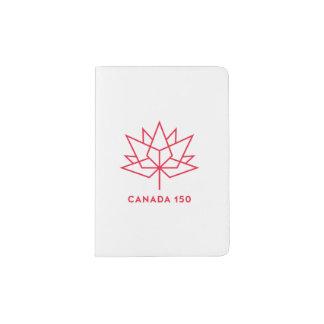 Canada 150 Official Logo - Red Outline Passport Holder