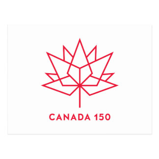 Canada 150 Official Logo - Red Outline Postcard