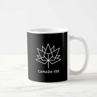 Canada 150 Official Logo - White and Black Coffee Mug