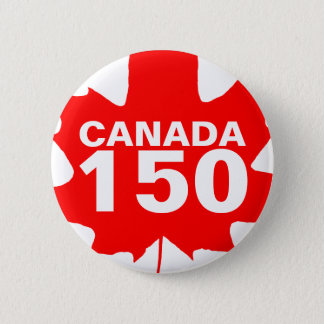 Canada 150 years anniversary one-of-a-kind 6 cm round badge