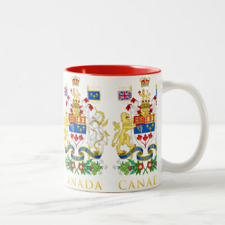 Canada 150th Anniversary Birthday Celebration Two-Tone Coffee Mug