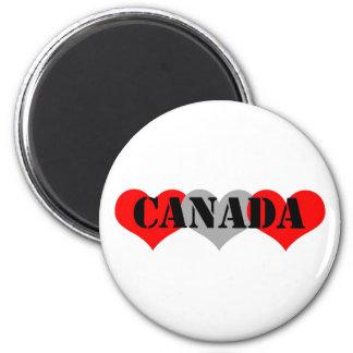 Canada 6 Cm Round Magnet