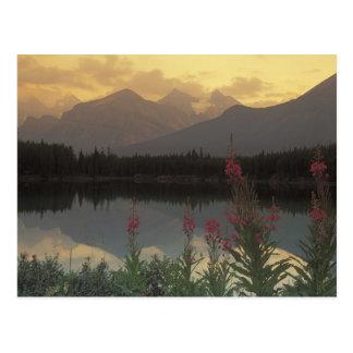 Canada, Alberta, Banff. Sunrise scenic of Postcard