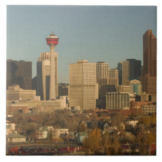 Canada, Alberta, Calgary: City Skyline from 2 Ceramic Tile