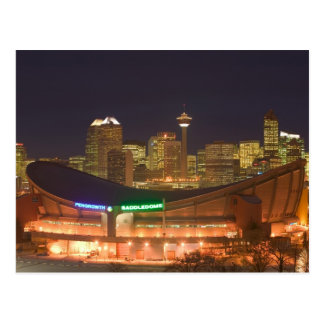 Canada, Alberta, Calgary: City Skyline from Postcard