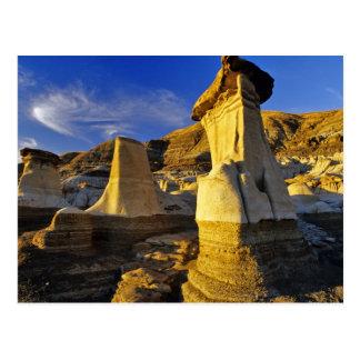 Canada, Alberta, Drumheller. Hoodoos. Postcard