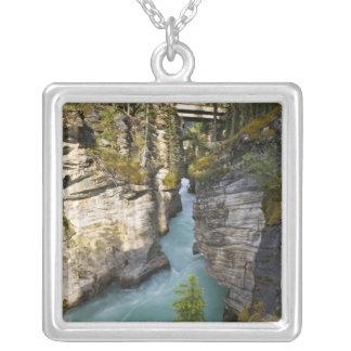 Canada, Alberta, Jasper National Park, Athabasca 2 Square Pendant Necklace