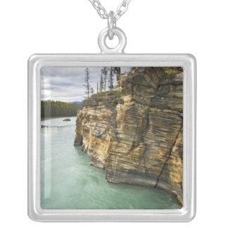 Canada, Alberta, Jasper National Park, Athabasca Square Pendant Necklace