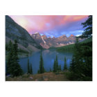 Canada, Alberta, Lake Moraine at Dawn, Banff Postcard