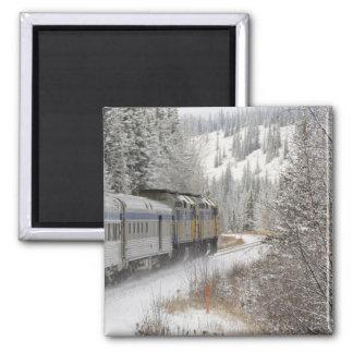 Canada, Alberta. VIA Rail Snow Train between Square Magnet