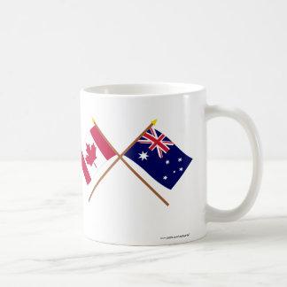 Canada and Australia Crossed Flags Basic White Mug