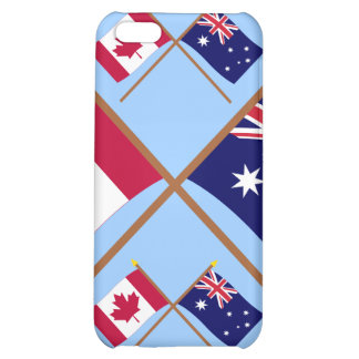 Canada and Australia Crossed Flags iPhone 5C Covers