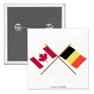 Canada and Belgium Crossed Flags Pin