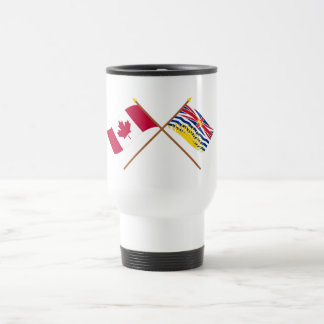 Canada and British Columbia Crossed Flags Coffee Mugs