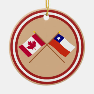 Canada and Chile Crossed Flags Ornament