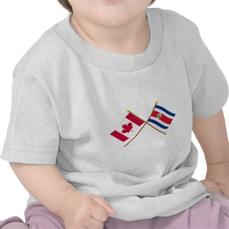Canada and Costa Rica Crossed Flags Shirts