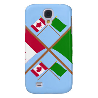Canada and Libya Crossed Flags Samsung Galaxy S4 Covers