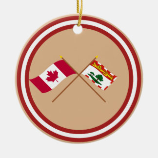 Canada and Prince Edward Island Crossed Flags Ornament