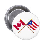Canada and Puerto Rico Crossed Flags Pin