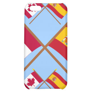 Canada and Spain Crossed Flags Case For iPhone 5C