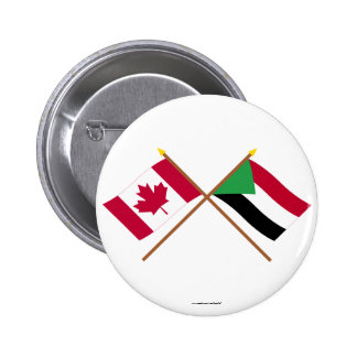 Canada and Sudan Crossed Flags Pins