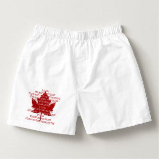 Canada Anthem Underwear Men's Canada Boxer Shorts Boxers