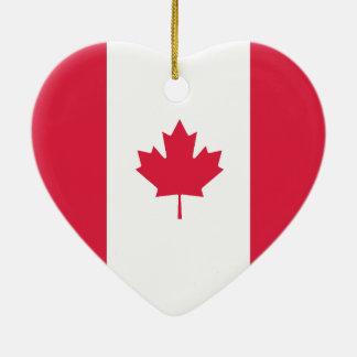 Canada & Australia Flag Heart Ornament