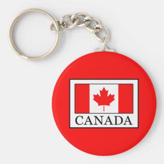 Canada Basic Round Button Key Ring