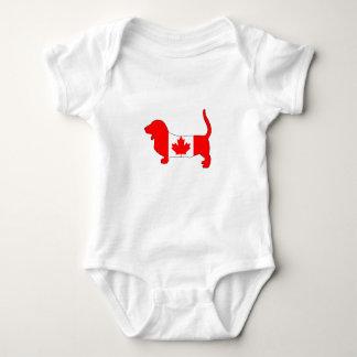 Canada Basset Hound Baby Bodysuit