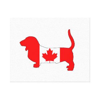 Canada Basset Hound Canvas Print