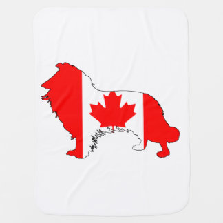Canada Border Collie Baby Blanket