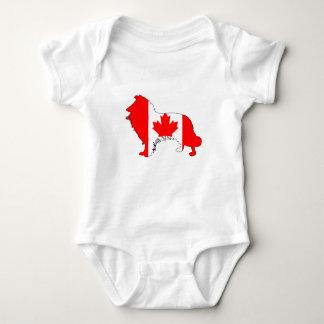 Canada Border Collie Baby Bodysuit