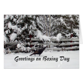 Canada Boxing Day Greeting Turkey Card
