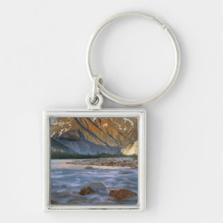 Canada, British Columbia, Alsek River Valley. Silver-Colored Square Key Ring