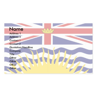 Canada British Columbia Flag Pack Of Standard Business Cards