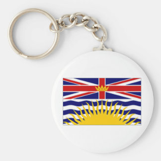 Canada British Columbia Flag Keychain